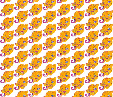 Cubist Cat Polka Dots fabric by thecameronquinn on Spoonflower - custom fabric