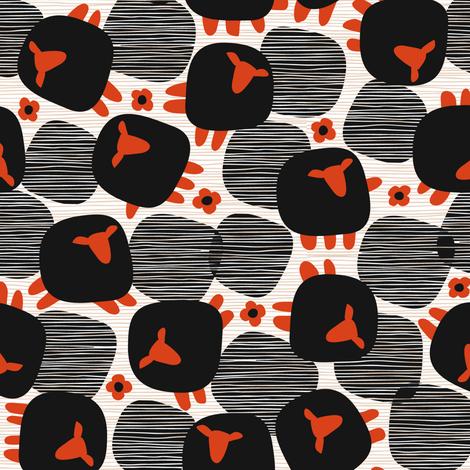 Baa Baa Black fabric by mariaspeyer on Spoonflower - custom fabric