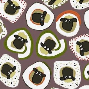 sheep sushi mocha large