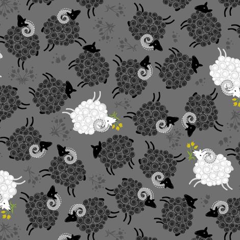 Black Sheep Spring Fling fabric by robinpickens on Spoonflower - custom fabric