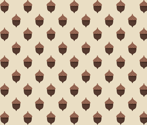 Forest of the Fox Coordinate-  Acorn Polka Dot in Cream fabric by bella_modiste on Spoonflower - custom fabric