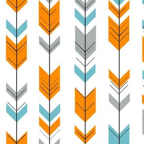 Fletching Arrows // Orange/Blue/Grey