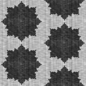 Starburst ~ Black and White Linen Luxe ~ Medium