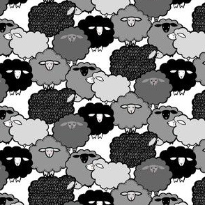 Mini Sheep Gray Scale