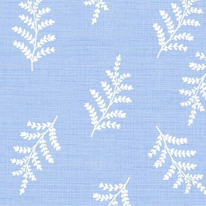 fern vintage botanical on bluebell