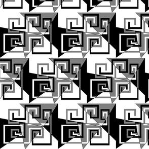 6 - Geometric Whimsical_Mazes - B & W
