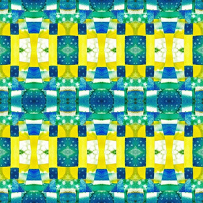 blue yellow mosaic