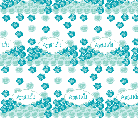 Rose drops-blue-personalzied fabric by drapestudio on Spoonflower - custom fabric