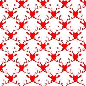 Deer heads (red)