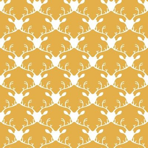 Deer heads (gold background)