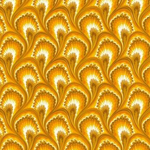 Marbling Peacock - Gold