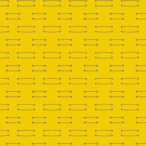 Arrows- mustard