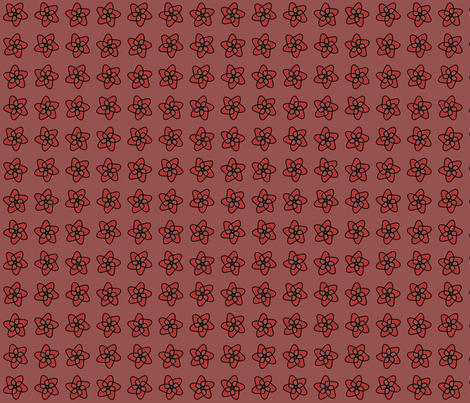 marsala starryflower fabric by byanhor on Spoonflower - custom fabric