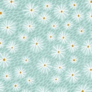 daisies - mint