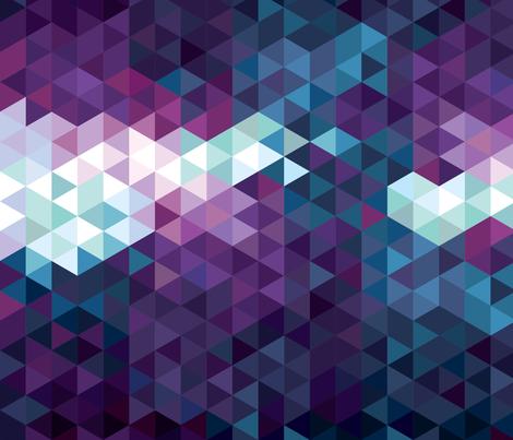 Stormy Skies Triangle Geometric fabric by electrogiraffe on Spoonflower - custom fabric