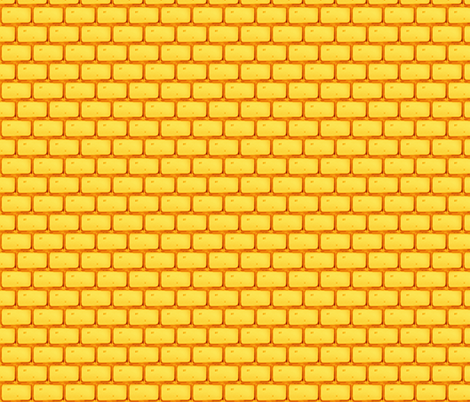 FOLLOW THE YELLOW BRICK ROAD GOLD fabric by bluevelvet on Spoonflower - custom fabric