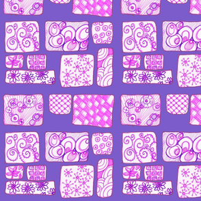Cogs & Flowers on Violet