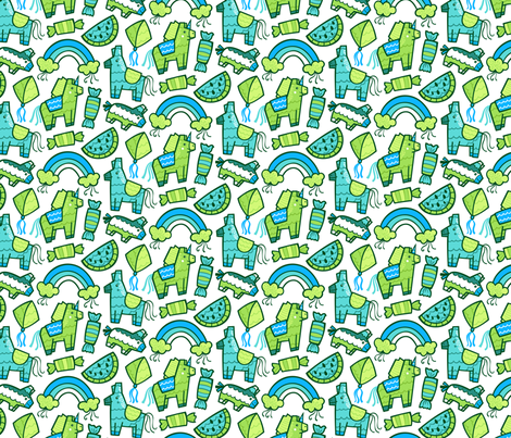 Crepe Paper Menagerie fabric by smashworks on Spoonflower - custom fabric