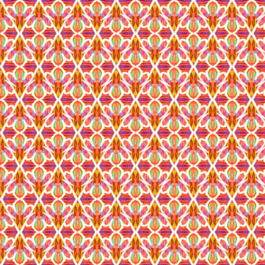 Confetti Flowers Orange-Med