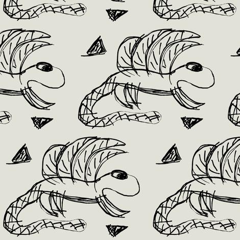 Dino baby fabric by mayadesign on Spoonflower - custom fabric