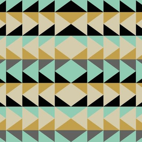 Triangle Stripes - Mint