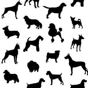 Mod-Dog Silhouettes Black on White Small Scale