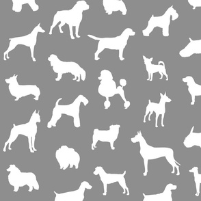 Mod-Dog Silhouettes White on Gray Large Scale