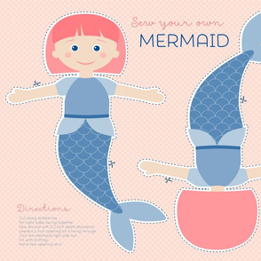 Mermaid cut and sew