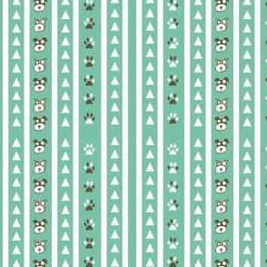Mint Animal Print