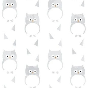 Owl Babies Winter Feathers - Large Scale