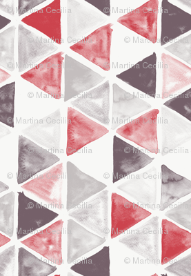 Watercolor Triangles - colorway 02
