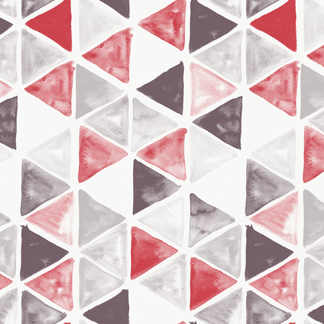 Watercolor Triangles - colorway 02 fabric by aliceelettrica on Spoonflower - custom fabric