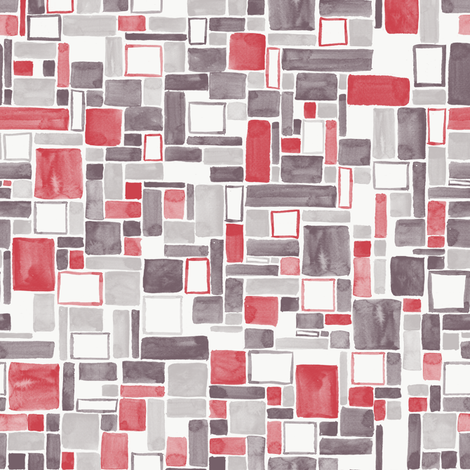 Watercolor Squares and rectangles - colorway 02 fabric by aliceelettrica on Spoonflower - custom fabric