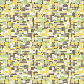 Watercolor Squares and rectangles - colorway 04 - lemon