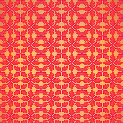 Red Floral on Gold fabric by ann~marie on Spoonflower - custom fabric