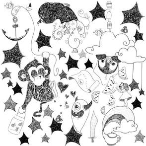 imaginary world doodle