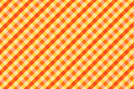 Magical Orange Gingham fabric by sparklepipsi on Spoonflower - custom fabric