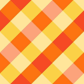 Magical Orange Gingham