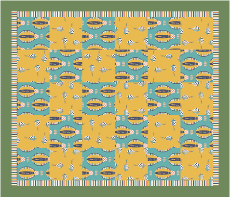 Come_Fly_With_Me_Cheater_Quilt fabric by kds_designs on Spoonflower - custom fabric