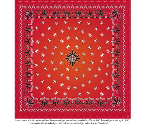 Cannadana_Trad_RedOrangeGradient fabric by kstarbuck on Spoonflower - custom fabric