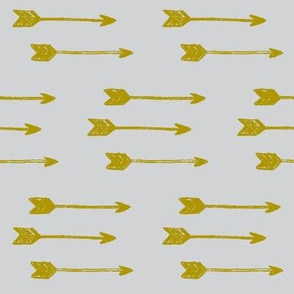 Arrows- gold on grey