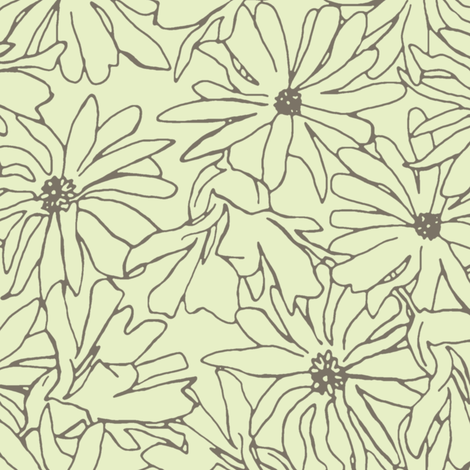 magnolia stellata mocha cream fabric by scrummy on Spoonflower - custom fabric