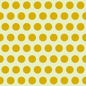 yellow cream polka dot