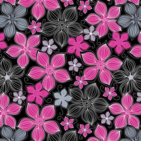 Tropic floral  fabric by vo_aka_virginiao on Spoonflower - custom fabric