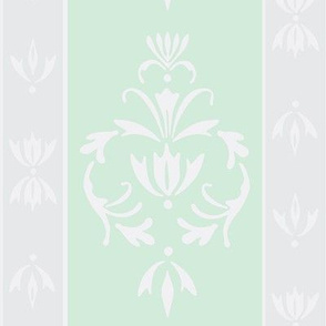 Foggy Banded Damask-Mint