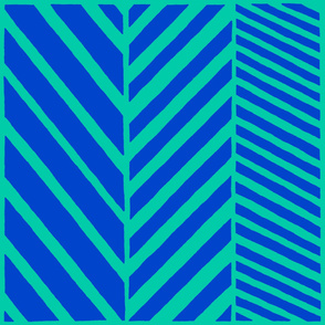 Zig and Zag Blue and Green