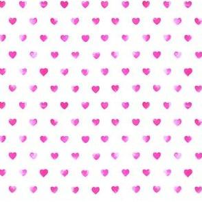 Raspberry Watercolor Hearts