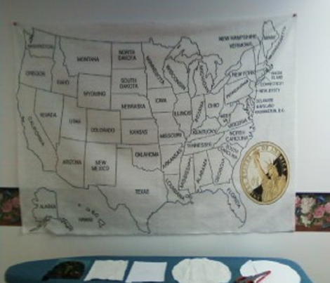 USA QUILTING MAP