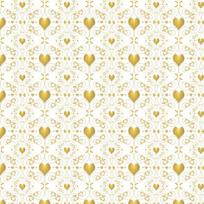Golden Heart Damask