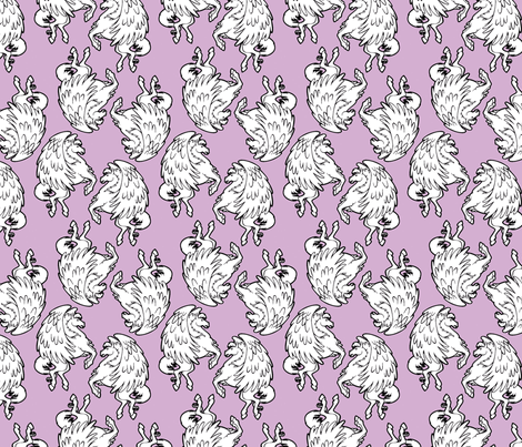 lavender pegasus fabric by hannafate on Spoonflower - custom fabric